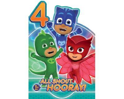 verjaardagskaart 4 jaar PJ Masks verjaardagskaart 4 jaar   Time4Toys.nl   Speelgoed  verjaardagskaart 4 jaar