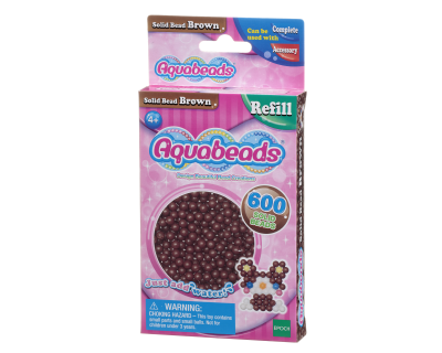 Aquabeads Parels - Solid Bead  Brown