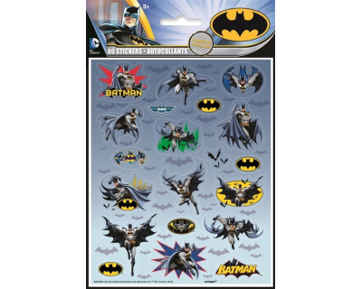 Batman Comics stickers 4 per pak