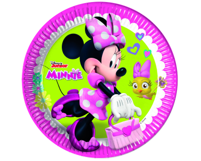 Minnie Mouse Feest happy Borden 8 per pak