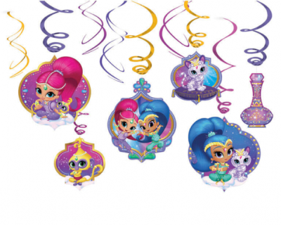 Shimmer & Shine hanger decoratie