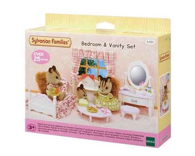 Houten Accessoires Slaapkamer : Sylvanian families slaapkamer kaptafelset time toys